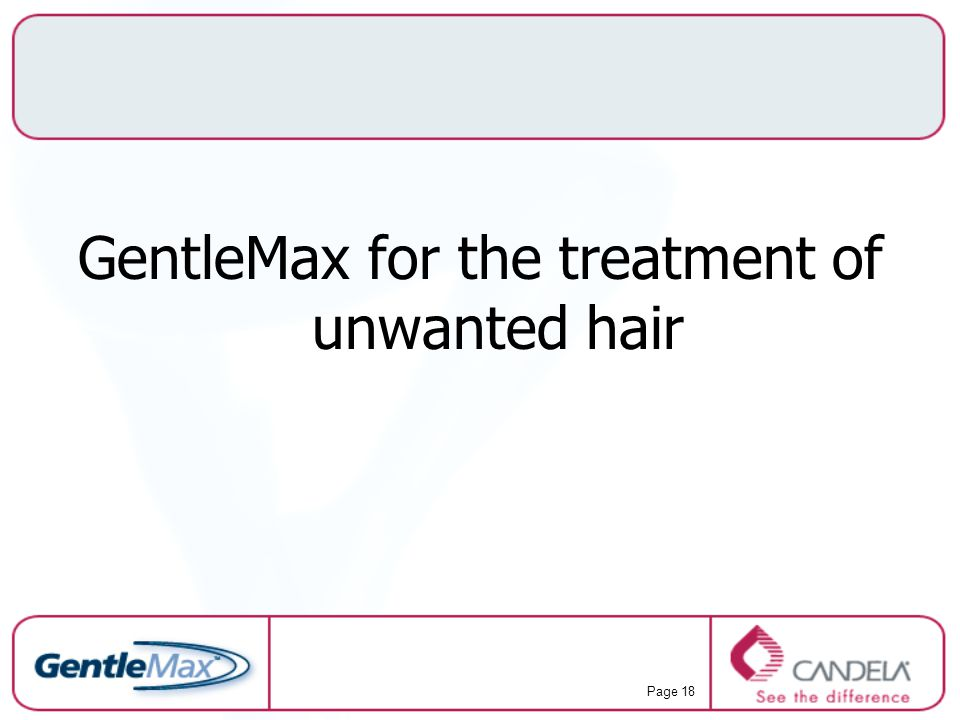 GentleMax for the treatment of unwanted hair