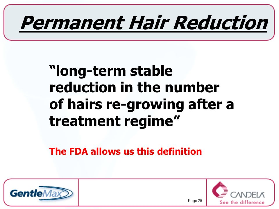 Permanent Hair Reduction