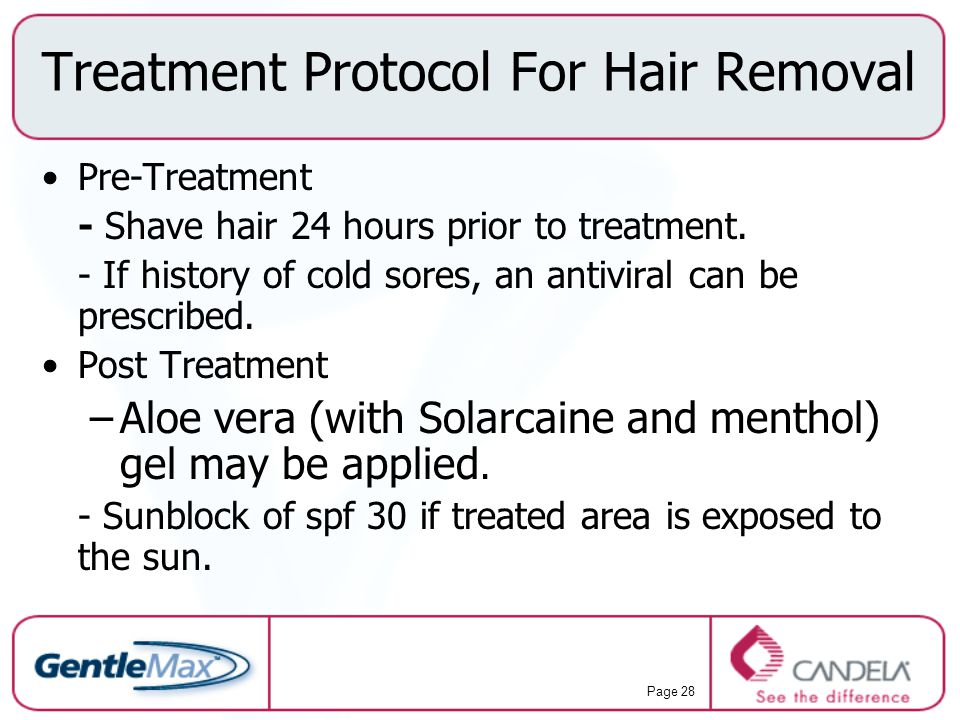 Treatment Protocol For Hair Removal