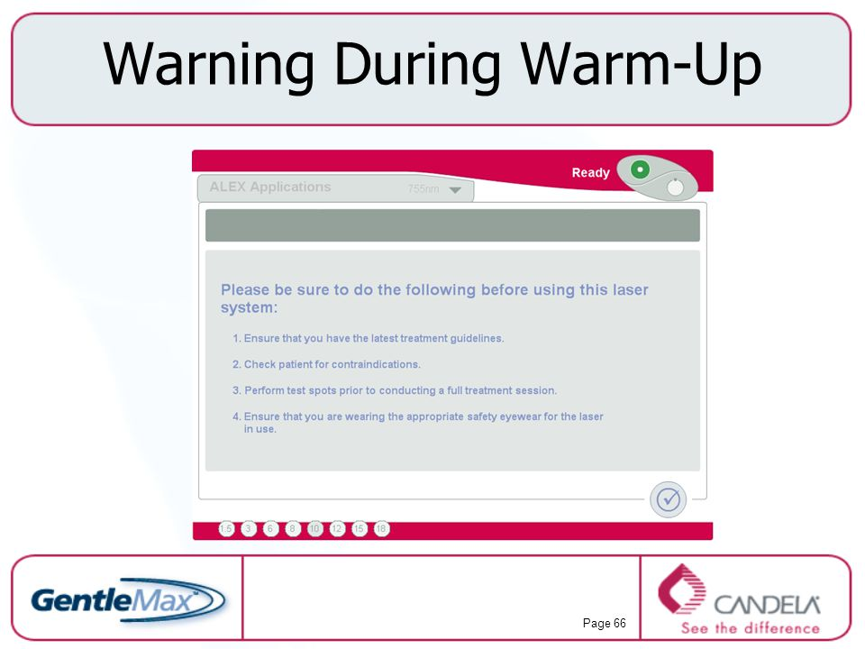 Warning During Warm-Up