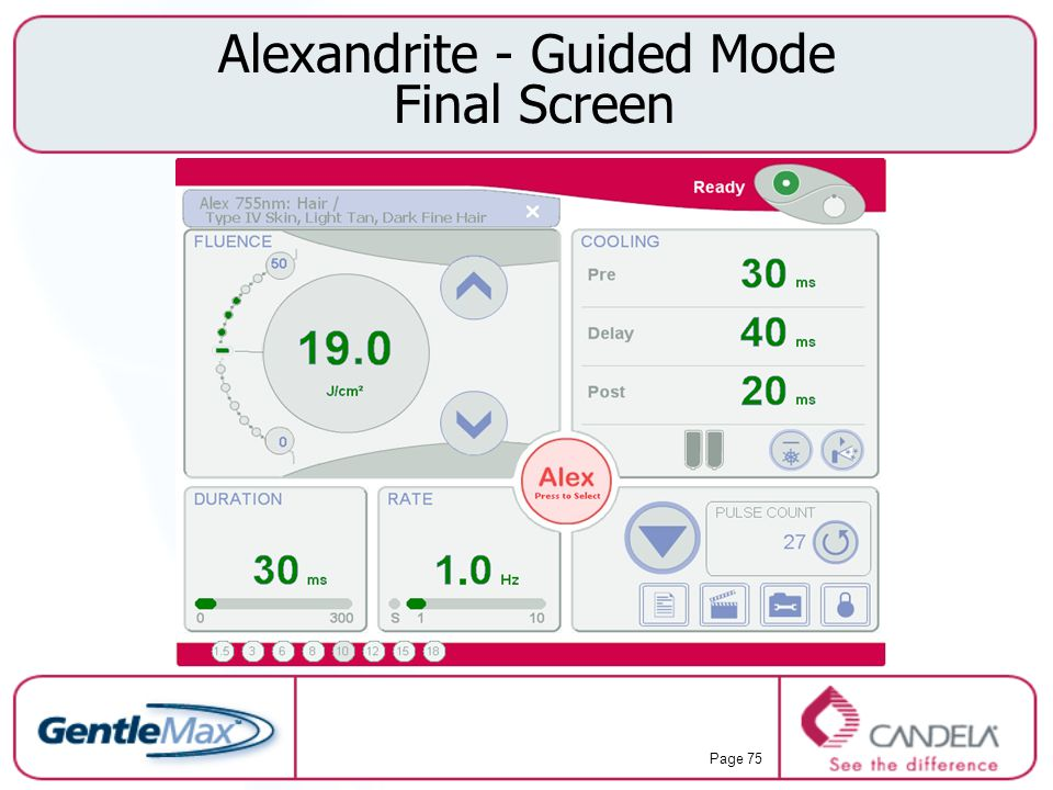 Alexandrite - Guided Mode Final Screen