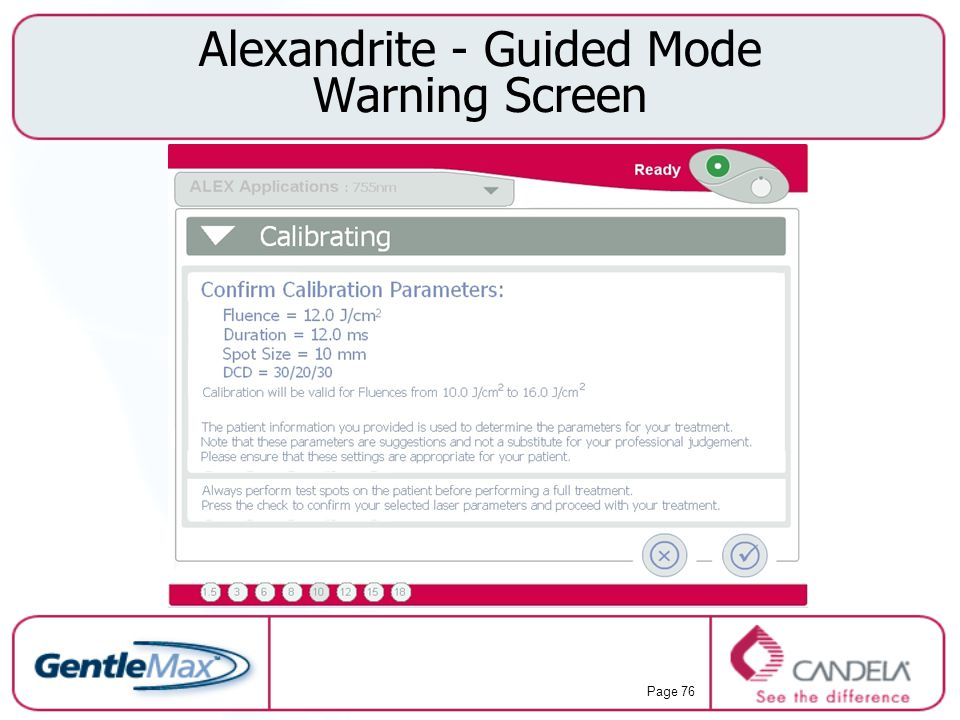 Alexandrite - Guided Mode Warning Screen