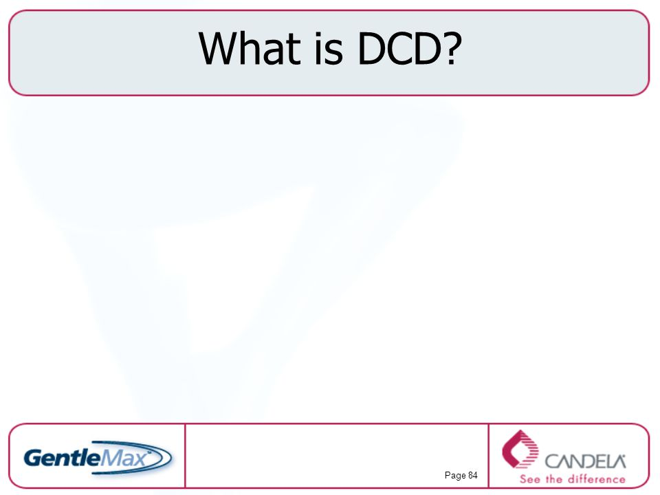 What is DCD