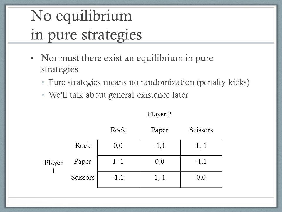 No equilibrium in pure strategies