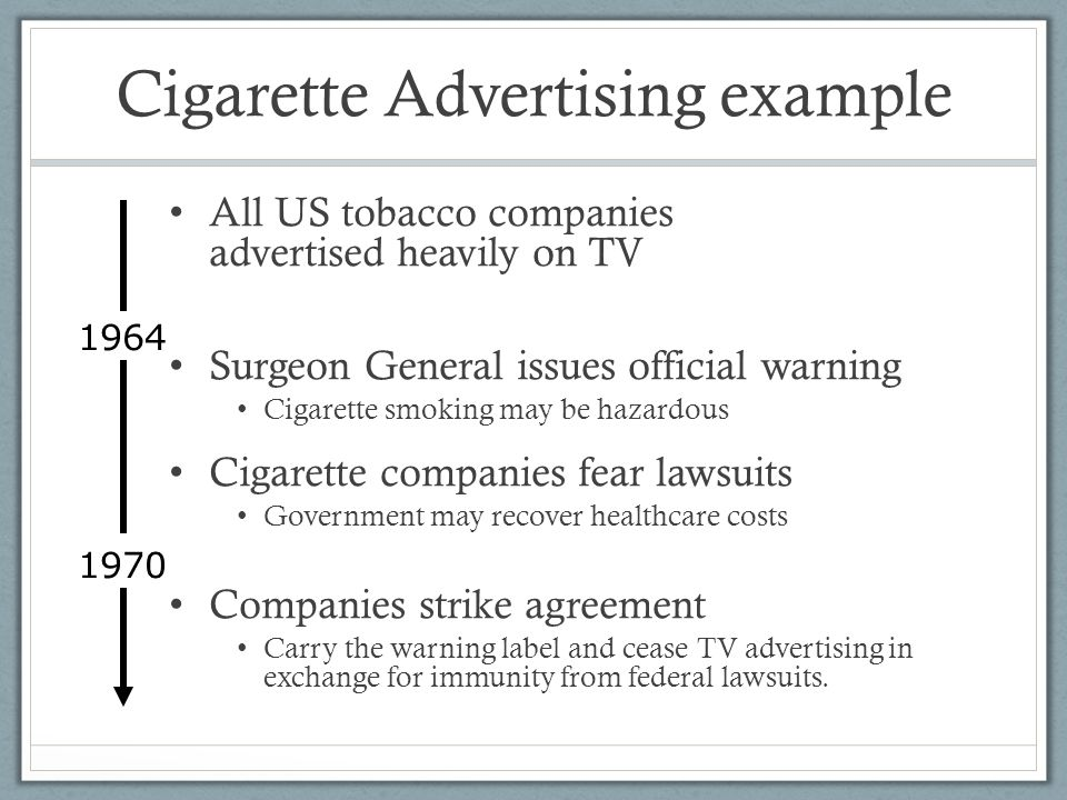 Cigarette Advertising example