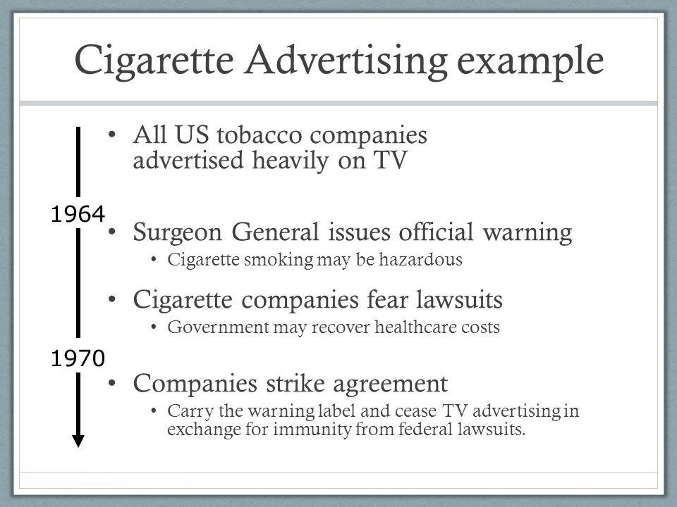 Cigarette Advertising example