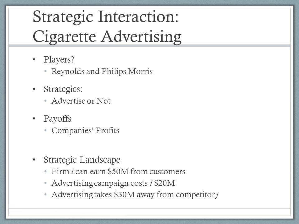 Strategic Interaction: Cigarette Advertising