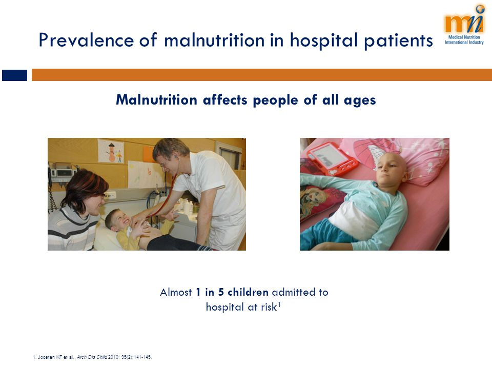 Prevalence of malnutrition in hospital patients