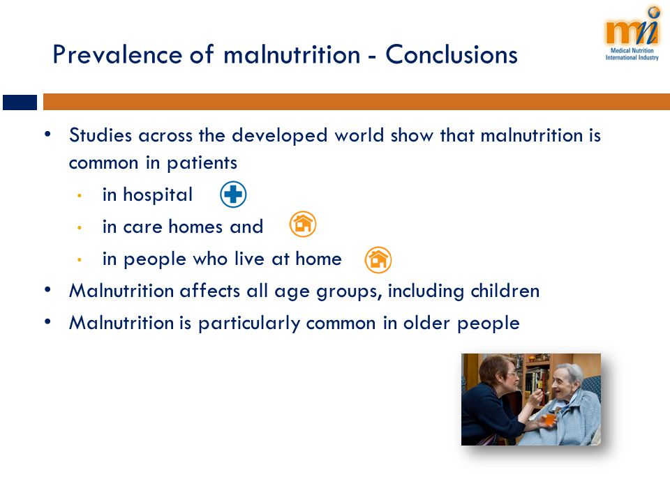Prevalence of malnutrition - Conclusions