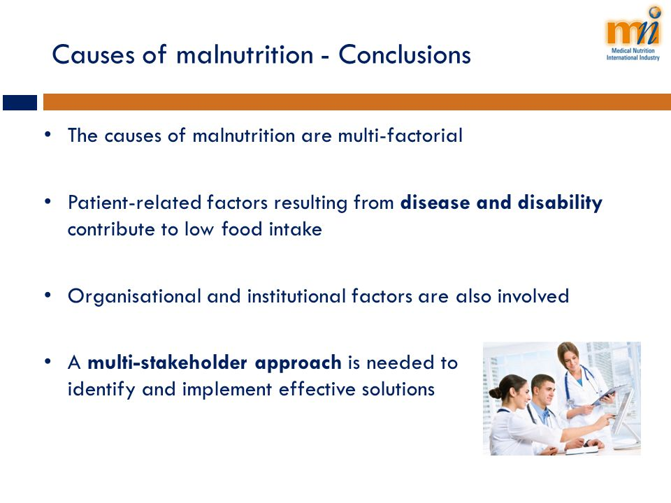 Causes of malnutrition - Conclusions