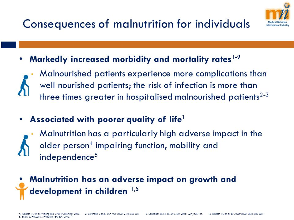 Consequences of malnutrition for individuals