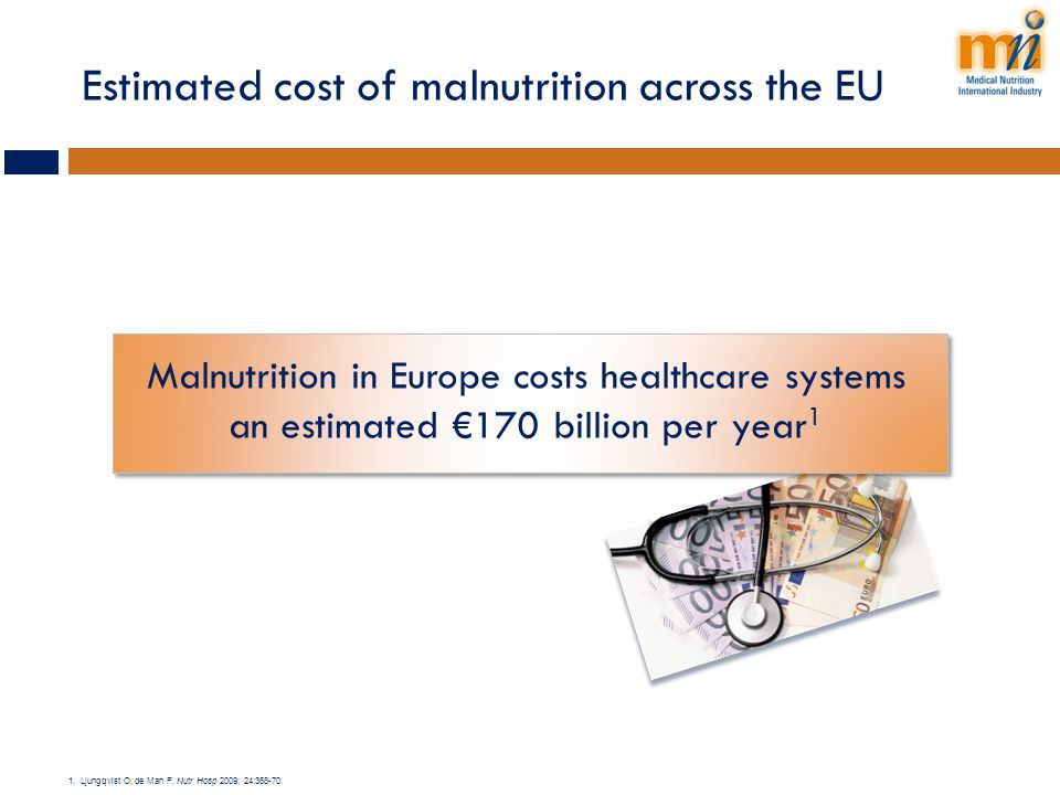 Estimated cost of malnutrition across the EU