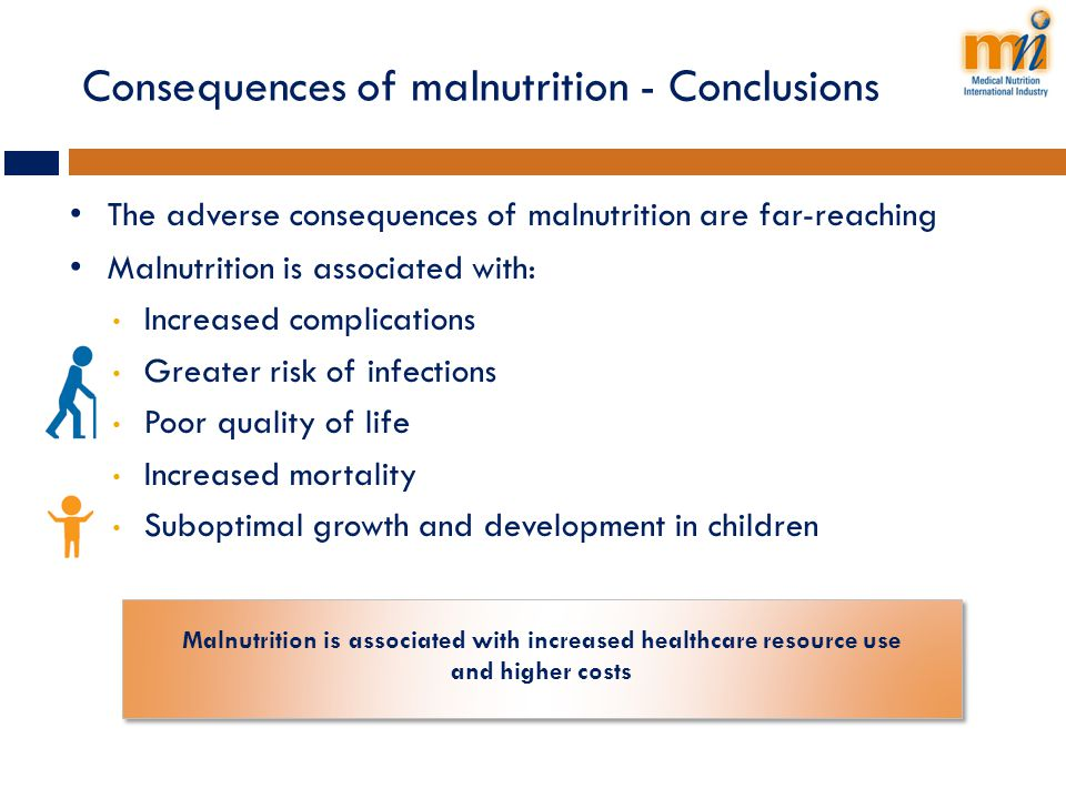 Consequences of malnutrition - Conclusions