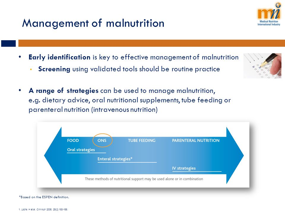Management of malnutrition