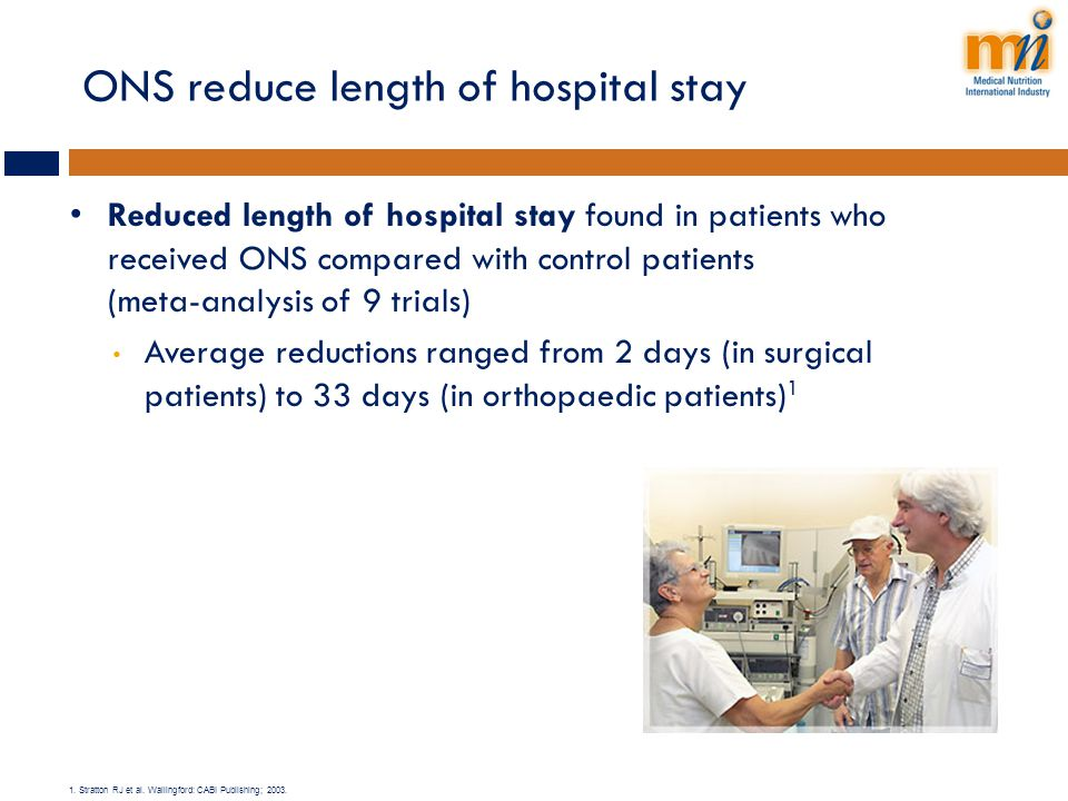ONS reduce length of hospital stay