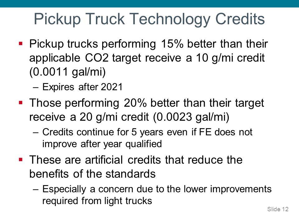 Pickup Truck Technology Credits