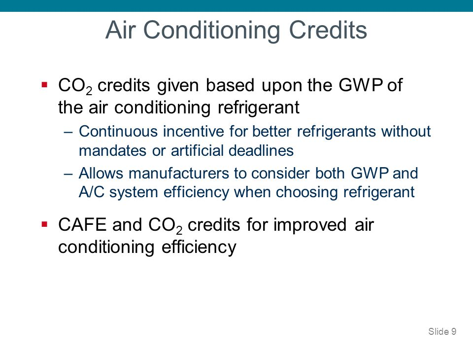 Air Conditioning Credits