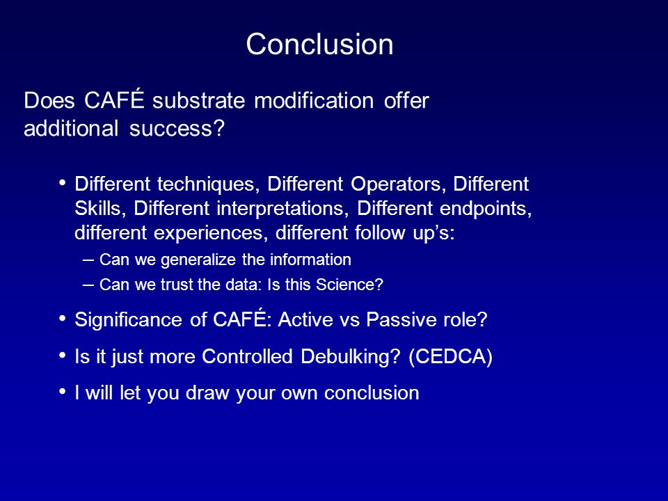 Does CAFÉ substrate modification offer additional success