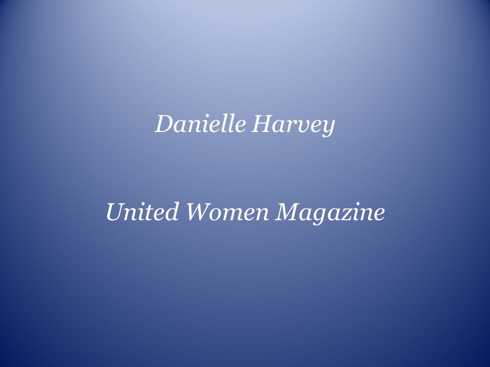 Danielle Harvey United Women Magazine
