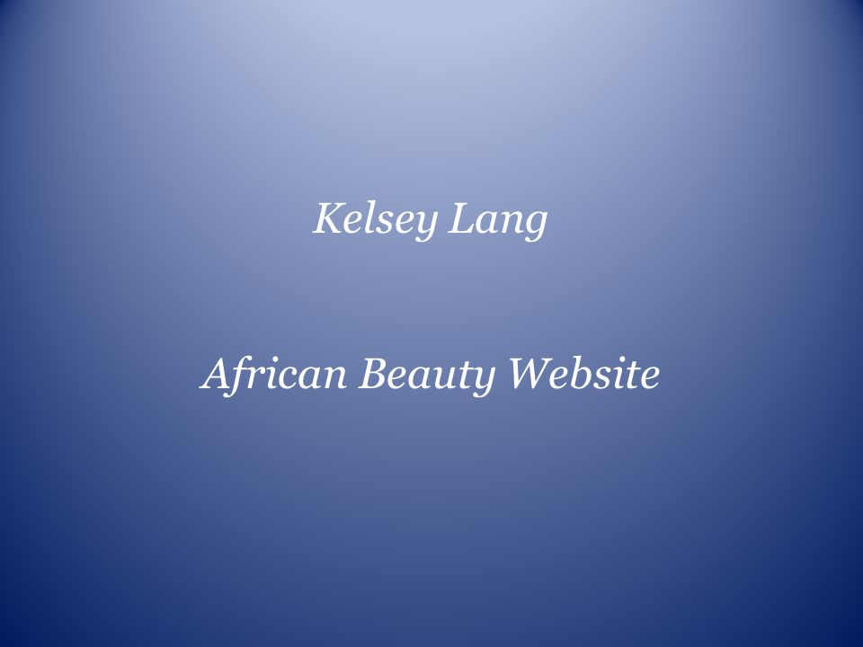 African Beauty Website