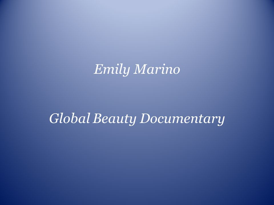 Global Beauty Documentary