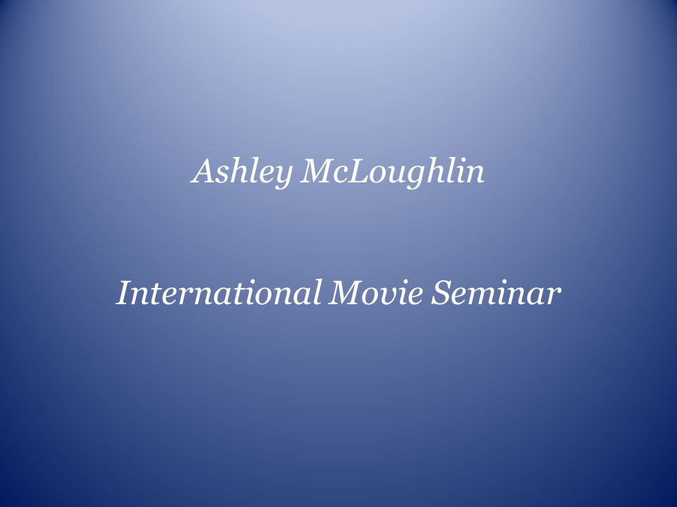 International Movie Seminar