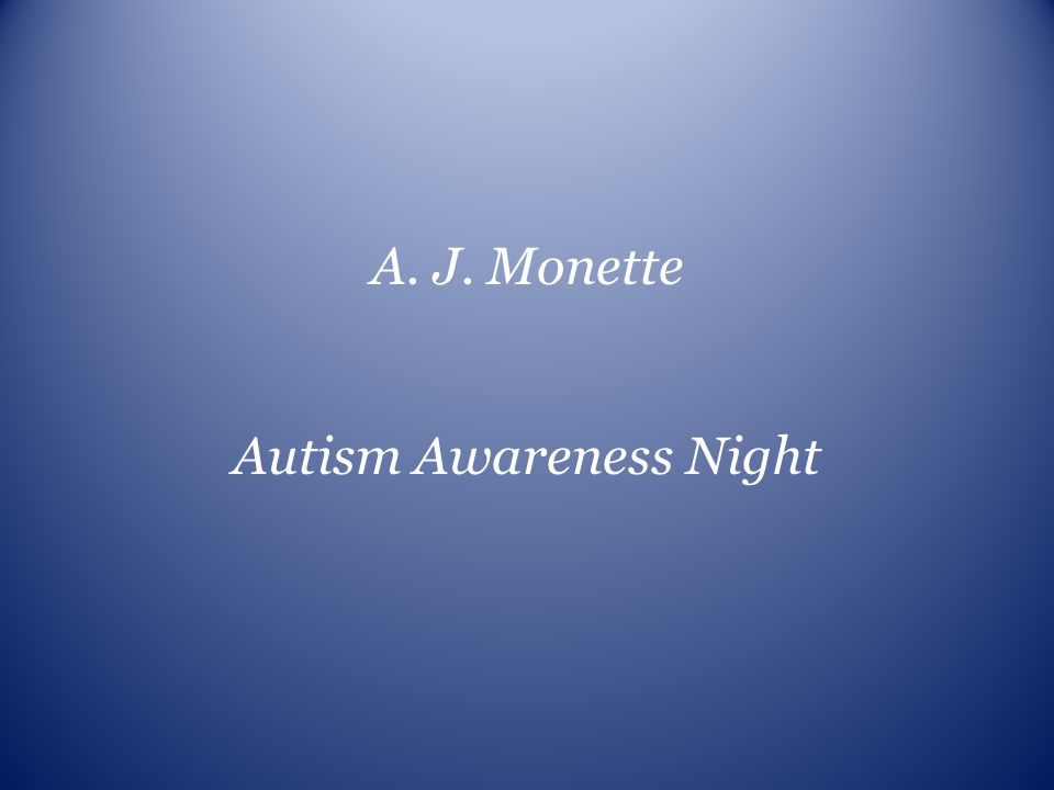 Autism Awareness Night