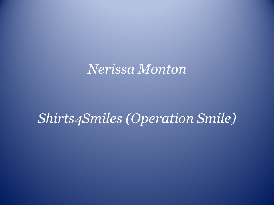 Shirts4Smiles (Operation Smile)