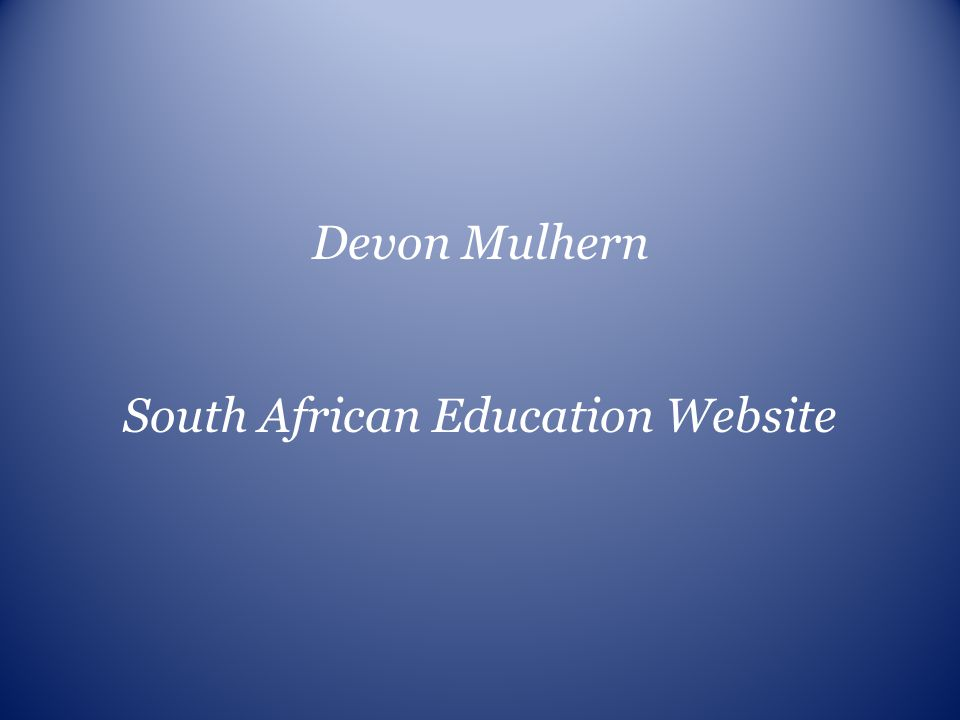 South African Education Website