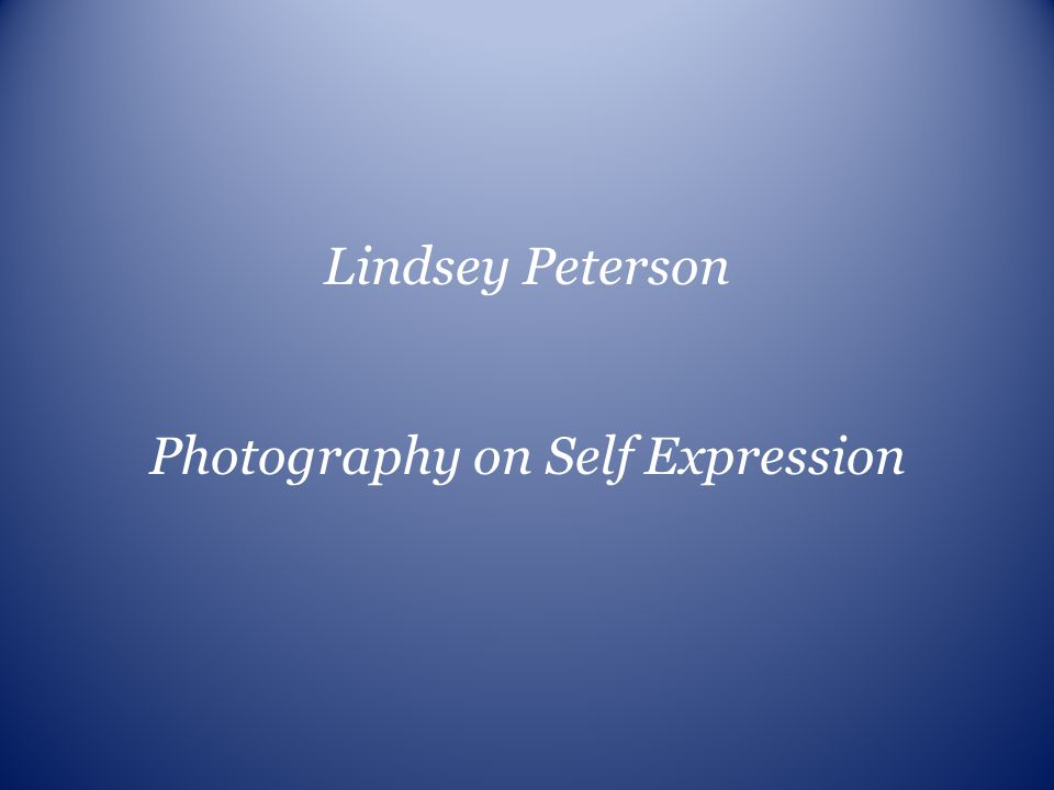 Photography on Self Expression