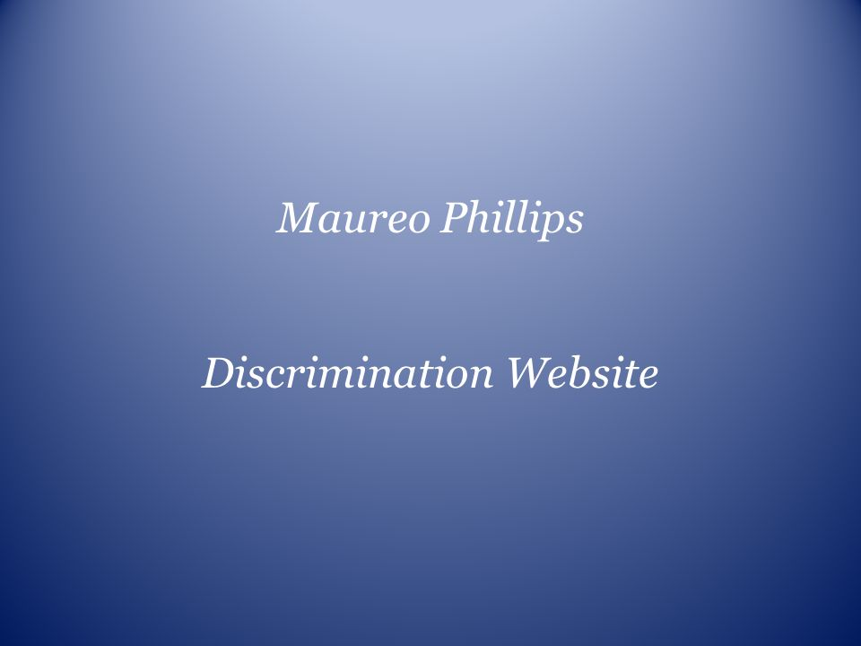 Discrimination Website