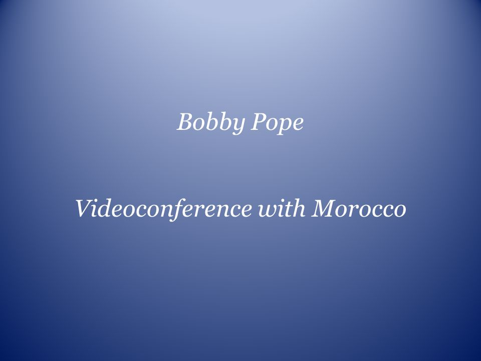 Videoconference with Morocco
