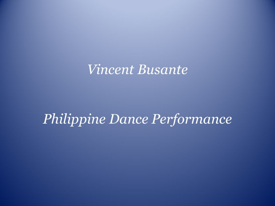 Philippine Dance Performance