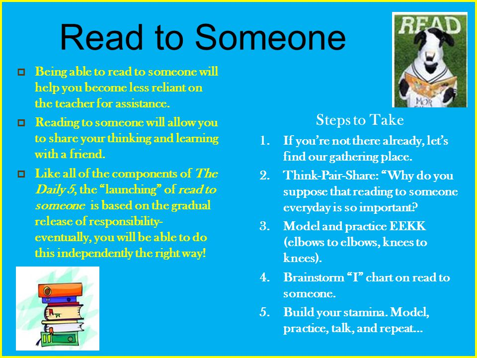 Read to Someone Steps to Take