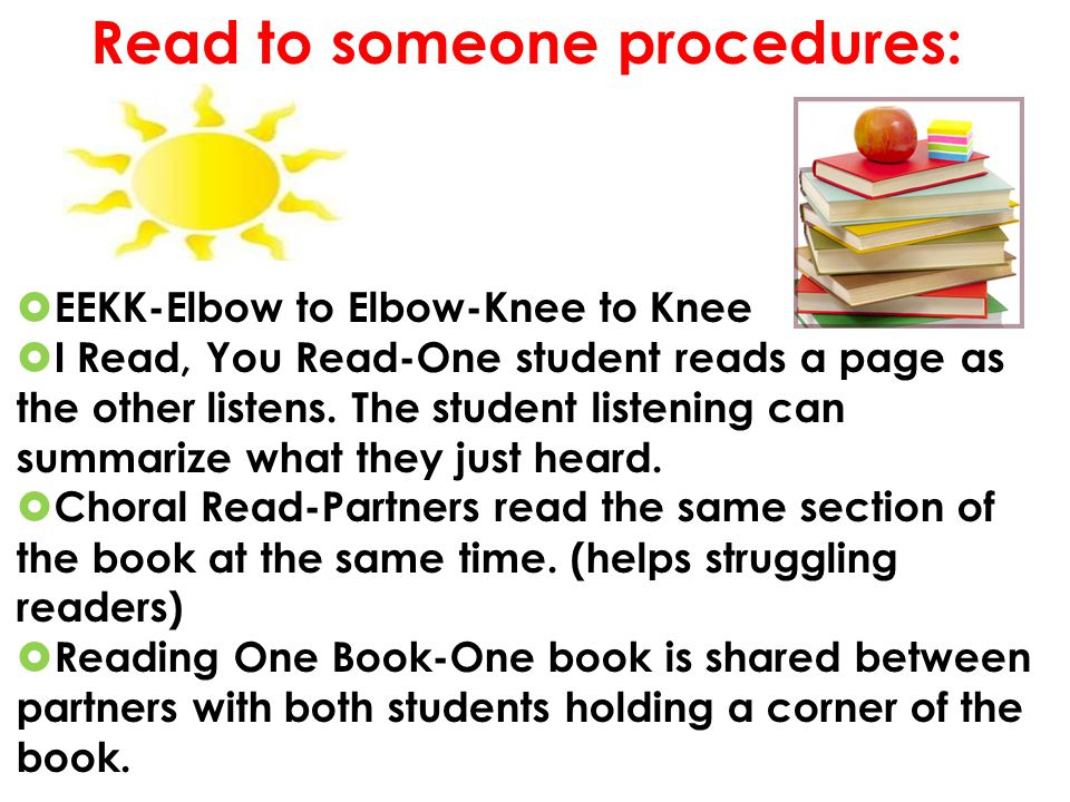 Read to someone procedures: