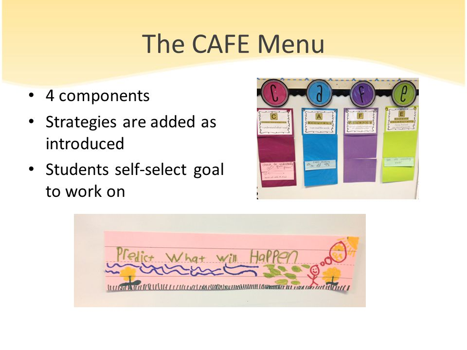 The CAFE Menu 4 components Strategies are added as introduced