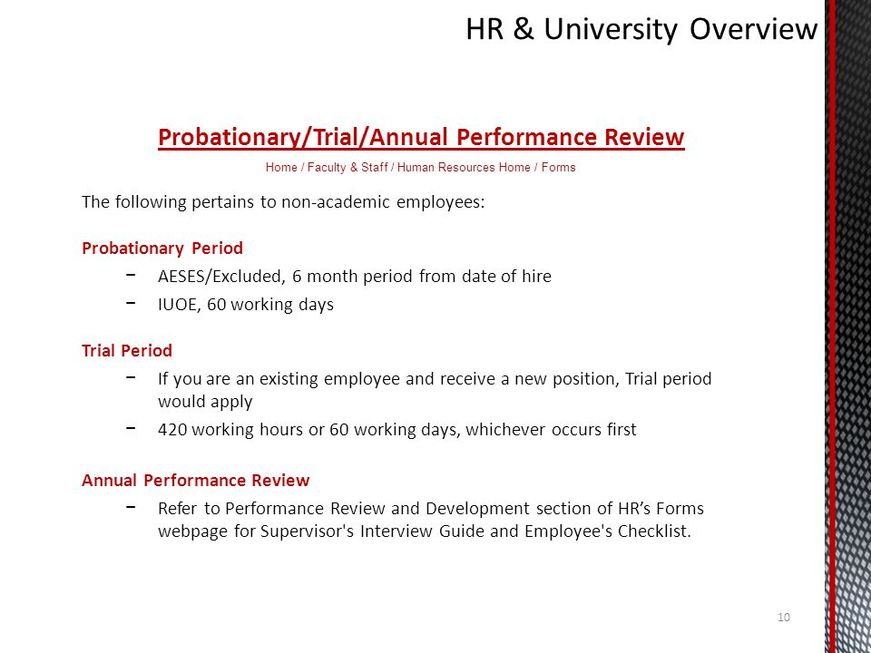 HR & University Overview