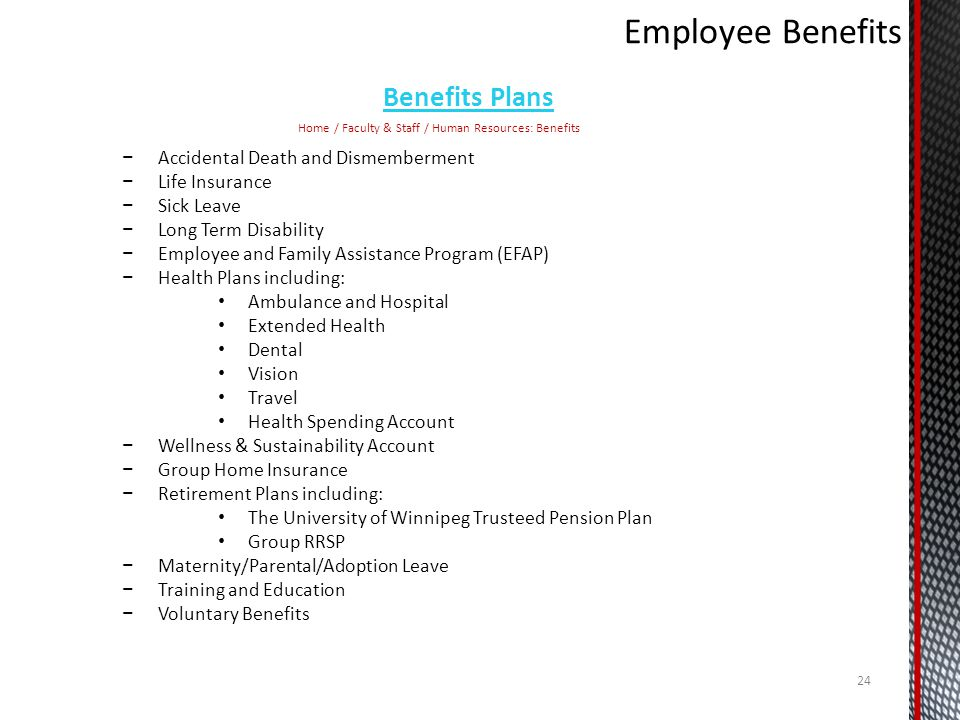 Employee Benefits Benefits Plans Accidental Death and Dismemberment