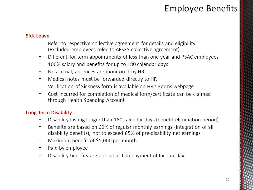Employee Benefits Sick Leave