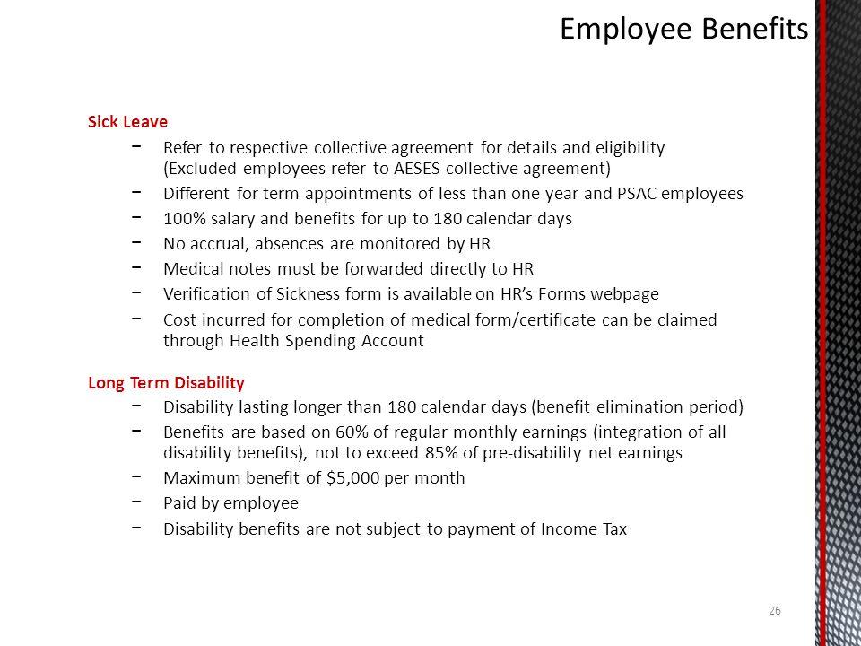 Employee Benefits Sick Leave