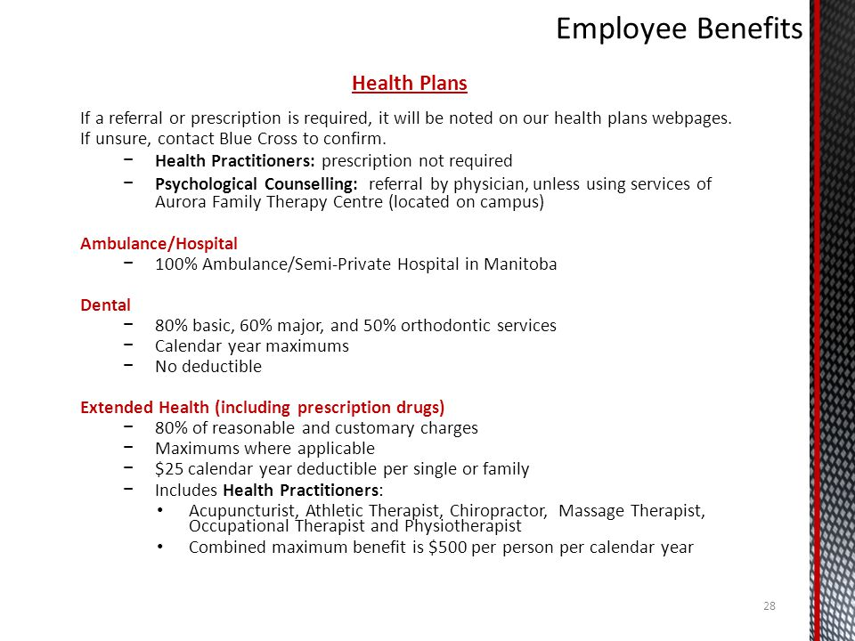 Employee Benefits Health Plans