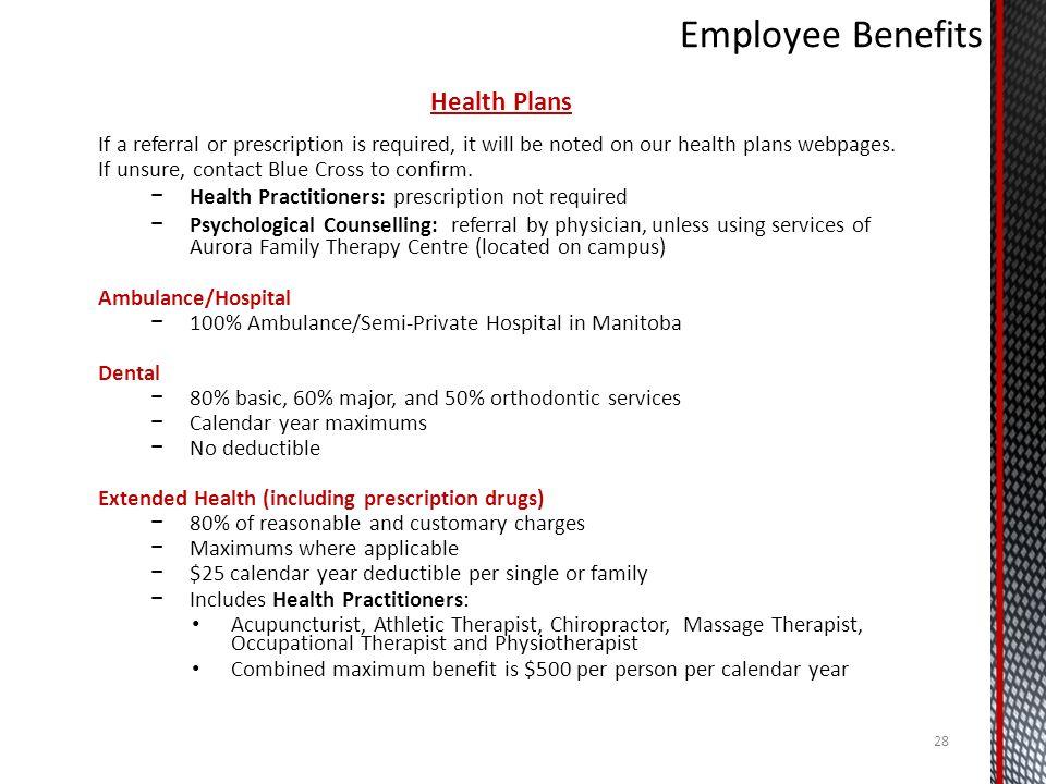 Employee Benefits Health Plans