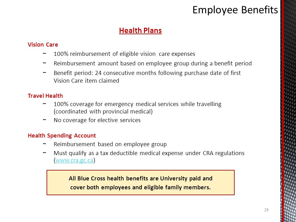 Employee Benefits Health Plans Vision Care