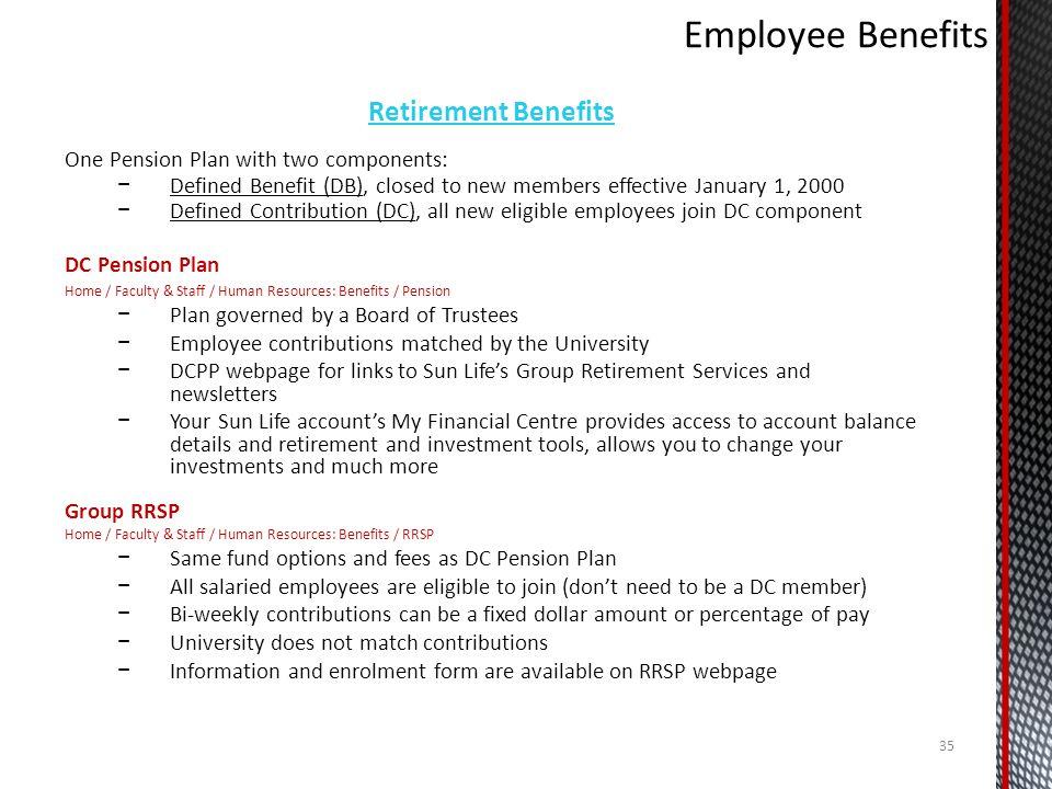 Employee Benefits Retirement Benefits