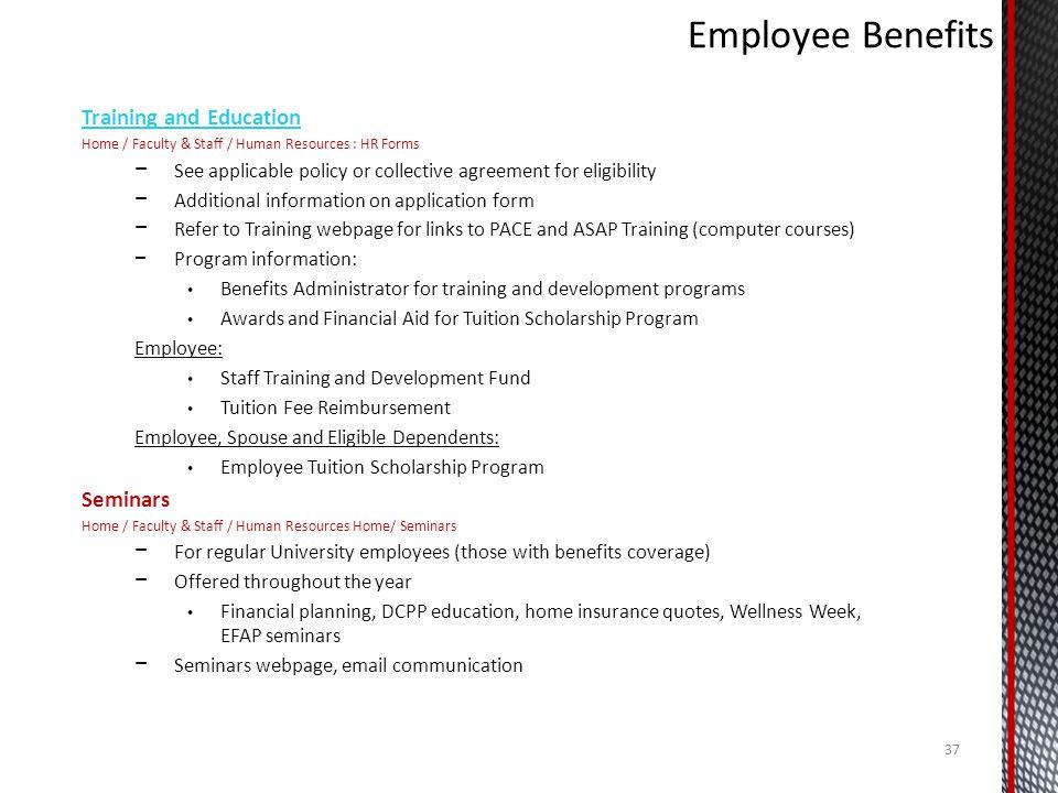 Employee Benefits Training and Education Seminars