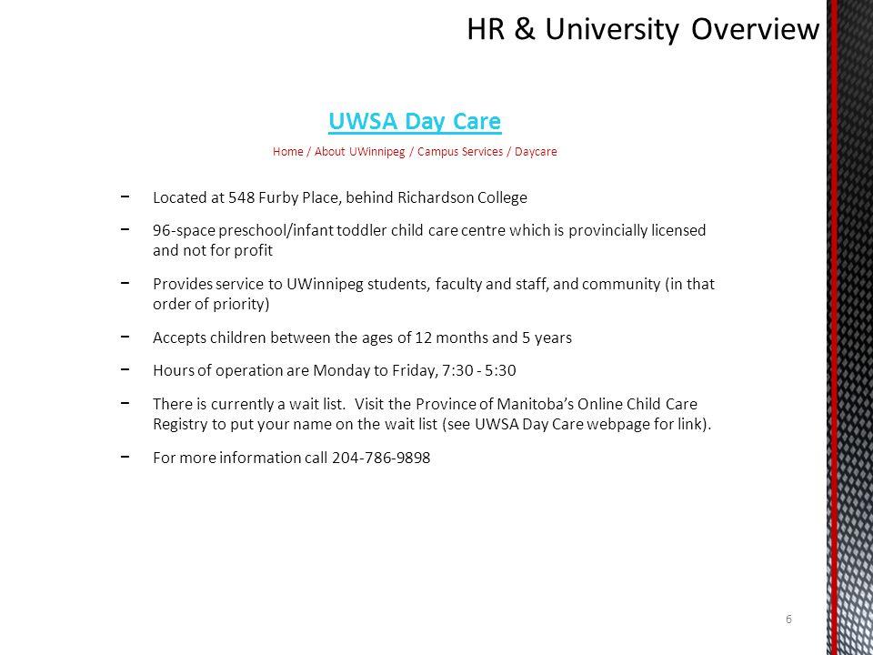 HR & University Overview