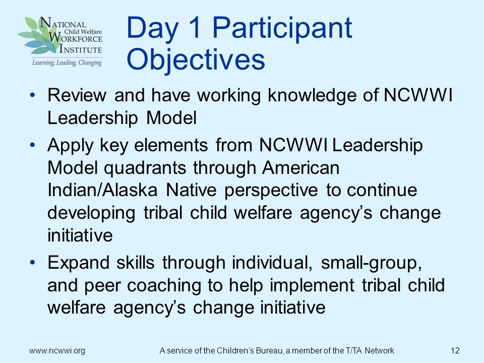 Day 1 Participant Objectives