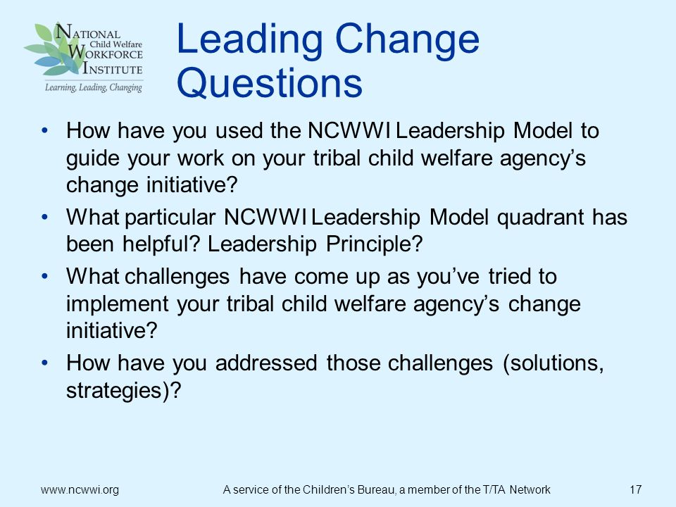 Leading Change Questions