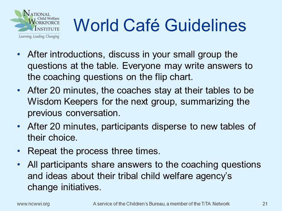World Café Guidelines