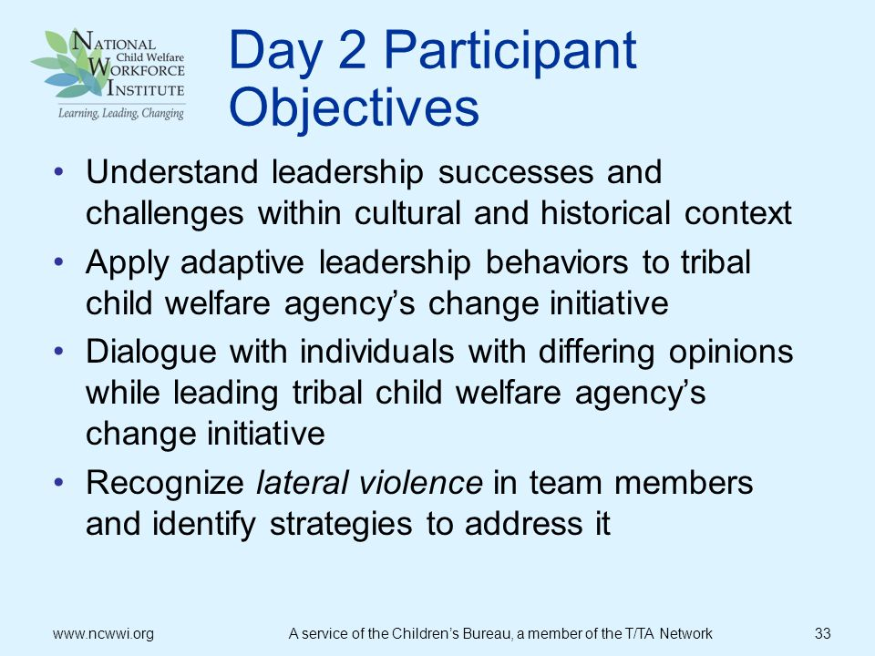 Day 2 Participant Objectives